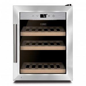 Хладилна витрина за охлаждане на вино CASO WineSafe 12 Classic
