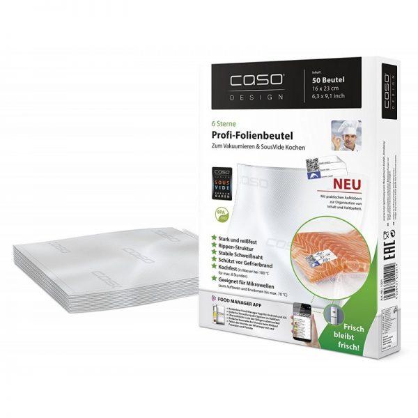 Пликове за вакуумиране CASO 16x23 см. - 50 бр. CAS.1201